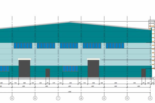 Здание складского назначения 1500 м2